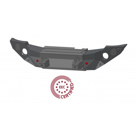 """Pedestrian Approved """"STEALTH"""" Steel Front Bumper"""