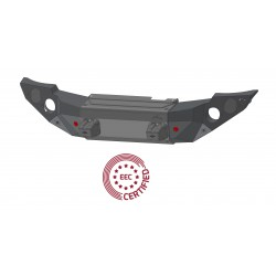 """Pedestrian Approved """"STEALTH"""" Steel Front Bumper with Winch Bumper"""